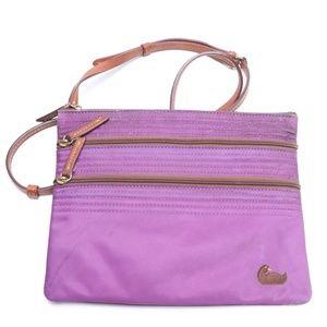 Dooney and Bourke east west Crossbody 3 zip purse